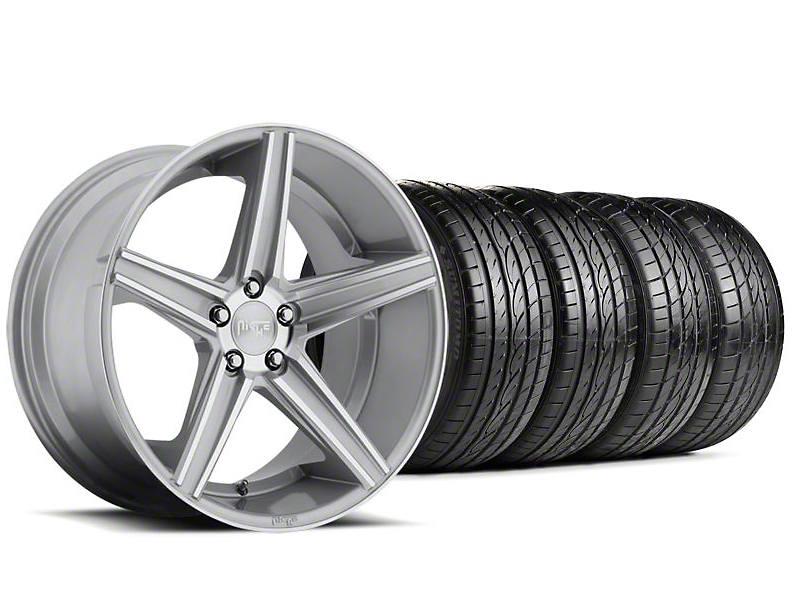 Niche Apex Machined Silver Wheel & Sumitomo Tire Kit - 20x8.5 (05-14 All)