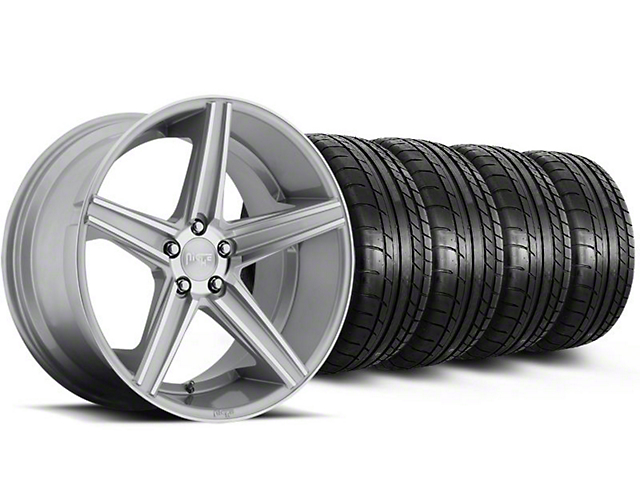 Niche Apex Machined Silver Wheel & Mickey Thompson Tire Kit - 20x8.5 (05-14 All)