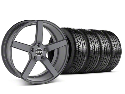 MMD 551C Charcoal Wheel & Pirelli Tire Kit - 19x8.5 (05-14 All)