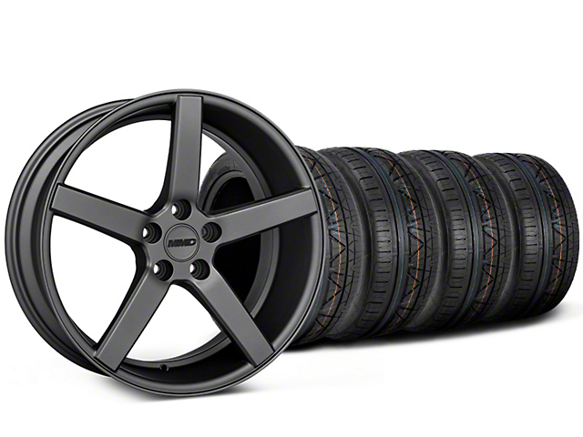 MMD 551C Charcoal Wheel & NITTO INVO Tire Kit - 19x8.5 (05-10 GT; 05-14 V6)