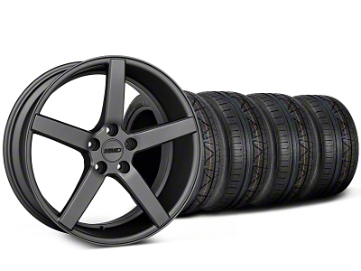 MMD 551C Charcoal Wheel & NITTO INVO Tire Kit - 19x8.5 (05-14 All)
