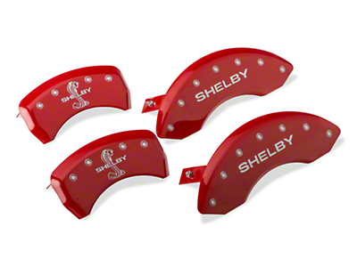 MGP Red Caliper Covers w/ Shelby Snake Logo - Front & Rear (05-10 GT, V6)