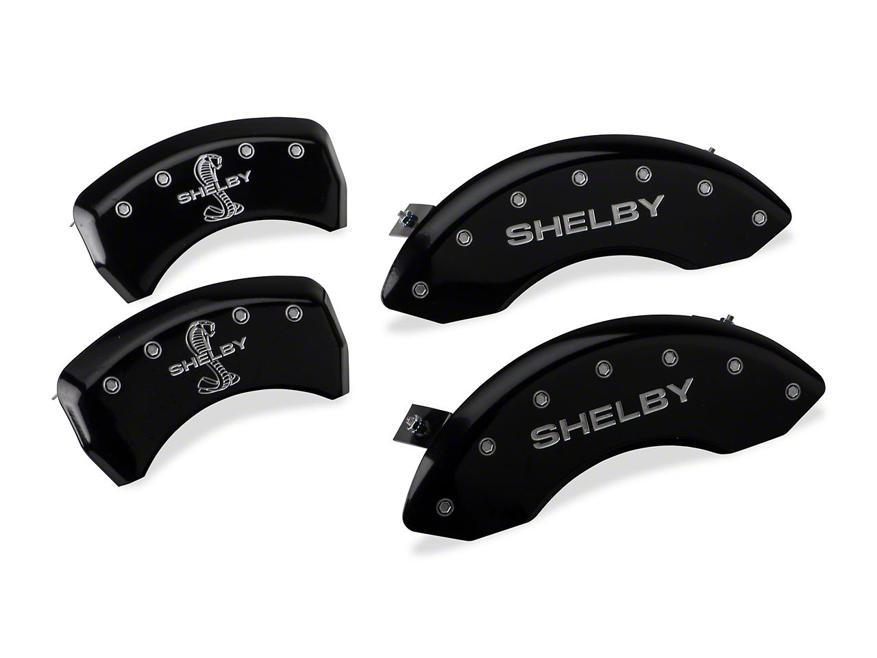 MGP Black Caliper Covers w/ Shelby Snake Logo - Front & Rear (05-10 GT, V6)