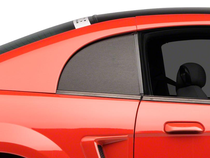 Brushed Black Quarter Window Blackout (99-04 GT, V6 & Cobra)