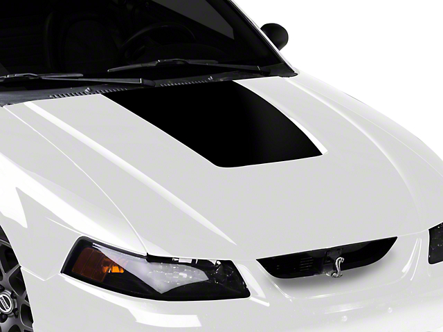 Black Hood Decal (99-01 Cobra; 03-04 V6)