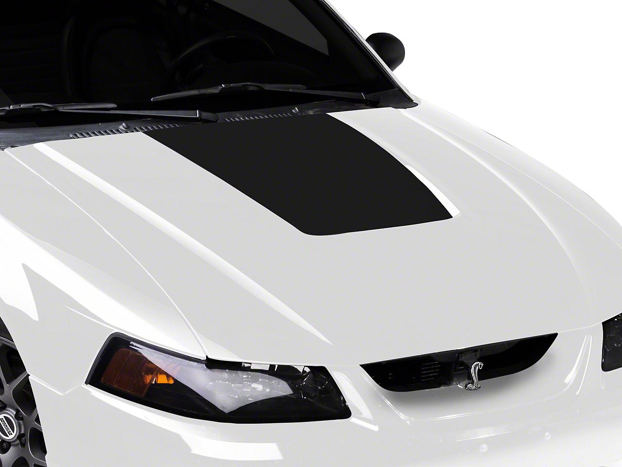 Matte Black Hood Decal (99-01 Cobra; 03-04 V6)