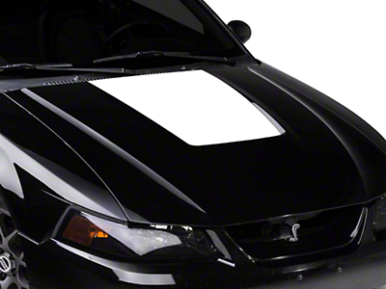 White Hood Decal (99-01 Cobra; 03-04 V6)