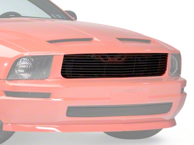Modern Billet Black Replacement Retro Grille - Upper (05-09 V6)
