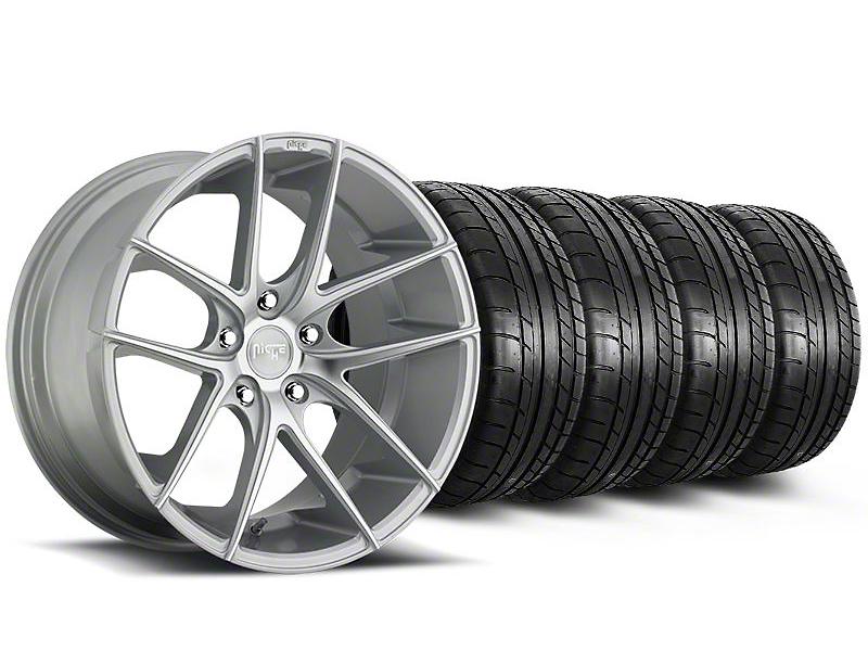 Niche Targa Matte Silver Wheel & Mickey Thompson Tire Kit - 19x8.5 (05-14 All)