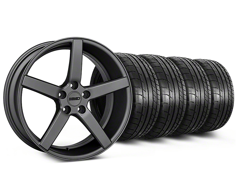 MMD 551C Charcoal Wheel & Mickey Thompson Tire Kit - 19x8.5 (05-14 All)