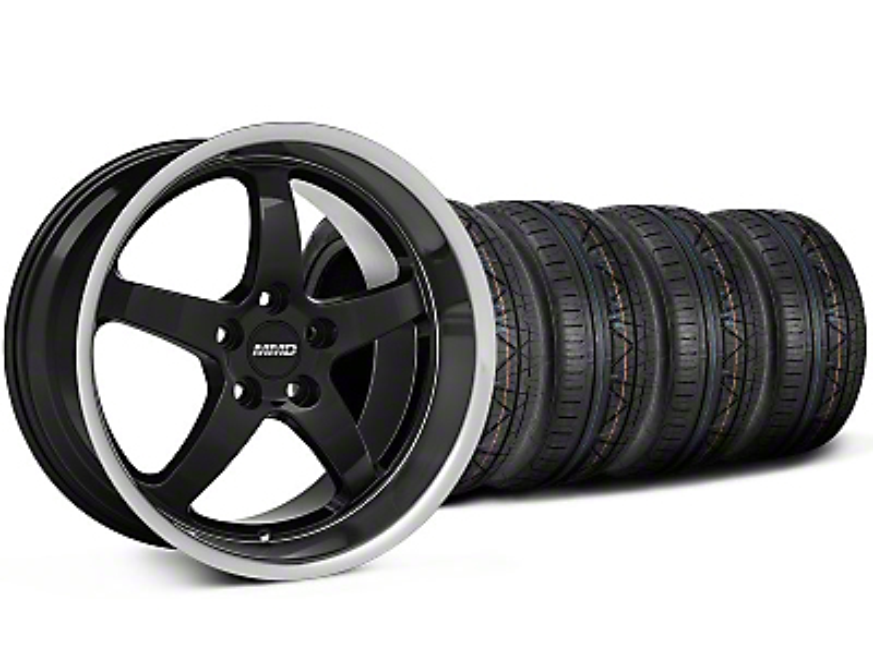 MMD Kage Black Wheel & NITTO INVO Tire Kit - 18x9 (05-14 V6; 05-10 GT)