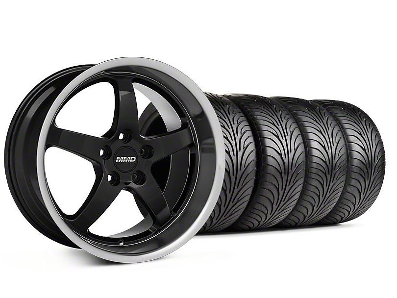 MMD Kage Black Wheel & Sumitomo Tire Kit - 18x9 (05-14 V6; 05-10 GT)