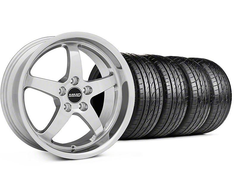 MMD Kage Polished Wheel & Sumitomo Tire Kit - 18x9 (05-14 V6; 05-10 GT)
