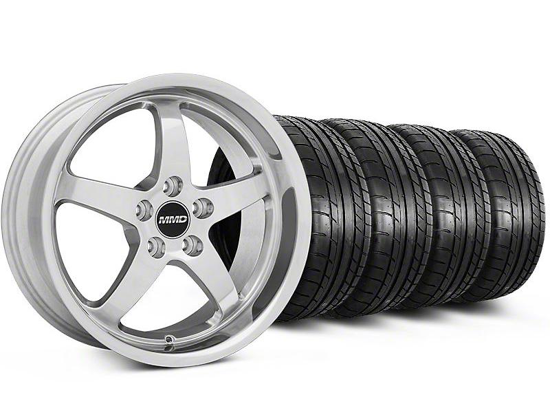 MMD Kage Polished Wheel & Mickey Thompson Tire Kit - 18x9 (05-14 V6; 05-10 GT)