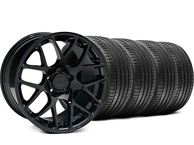 Staggered AMR Black Wheel & Sumitomo Tire Kit - 18x9/10 (99-04)