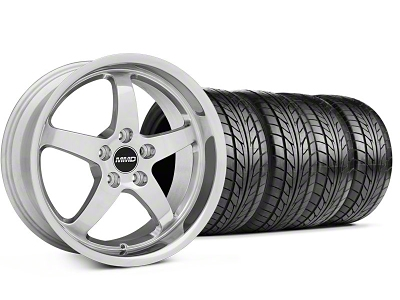 MMD Staggered Kage Polished Wheel & NITTO Tire Kit - 18x9/10 (05-14 V6; 05-10 GT)