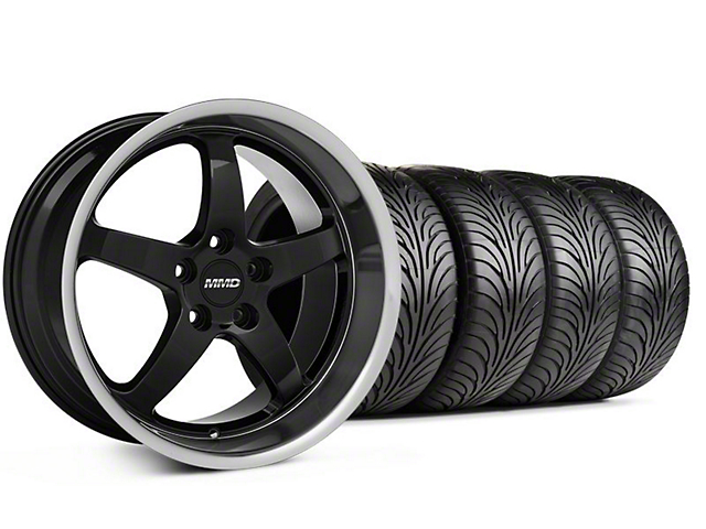 Staggered MMD Kage Black Wheel & Sumitomo Tire Kit - 18x9/10 (05-14 V6; 05-10 GT)