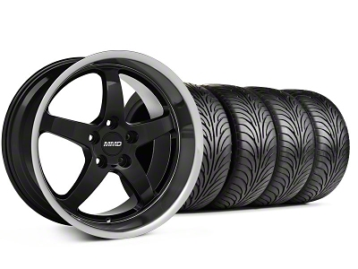 MMD Staggered Kage Black Wheel & Sumitomo Tire Kit - 18x9/10 (05-14 V6; 05-10 GT)