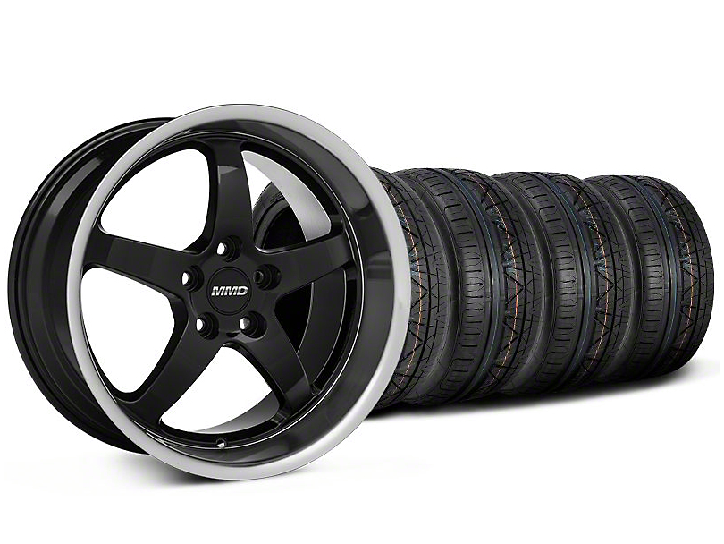 Staggered MMD Kage Black Wheel & NITTO INVO Tire Kit - 18x9/10 (05-14 V6; 05-10 GT)