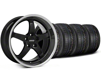 MMD Staggered Kage Black Wheel & NITTO INVO Tire Kit - 18x9/10 (05-14 V6; 05-10 GT)