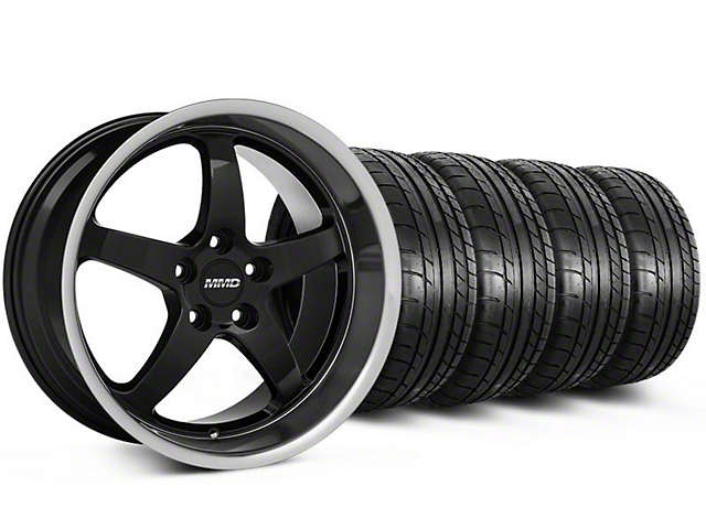 Staggered MMD Kage Black Wheel & Mickey Thompson Tire Kit - 18x9/10 (05-14 V6; 05-10 GT)
