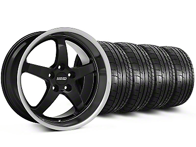MMD Staggered Kage Black Wheel & Mickey Thompson Tire Kit - 18x9/10 (05-14 V6; 05-10 GT)
