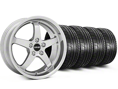MMD Staggered Kage Polished Wheel & Mickey Thompson Tire Kit - 18x9/10 (05-14 V6; 05-10 GT)