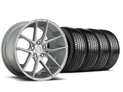 Staggered Niche Targa Matte Silver Wheel & Pirelli Tire Kit - 19x8.5/9.5 (05-14 All)