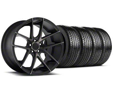Niche Staggered Targa Black Wheel & Pirelli Tire Kit - 19x8.5/9.5 (05-14 All)