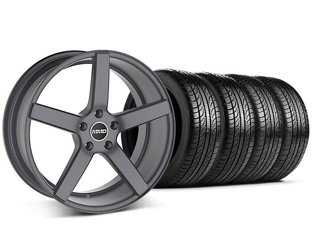 Staggered MMD 551C Charcoal Wheel & Pirelli Tire Kit - 19x8.5/10 (05-14 All)
