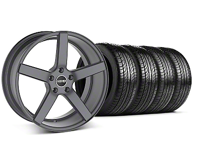 MMD Staggered 551C Charcoal Wheel & Pirelli Tire Kit - 19x8.5/10 (05-14 All)