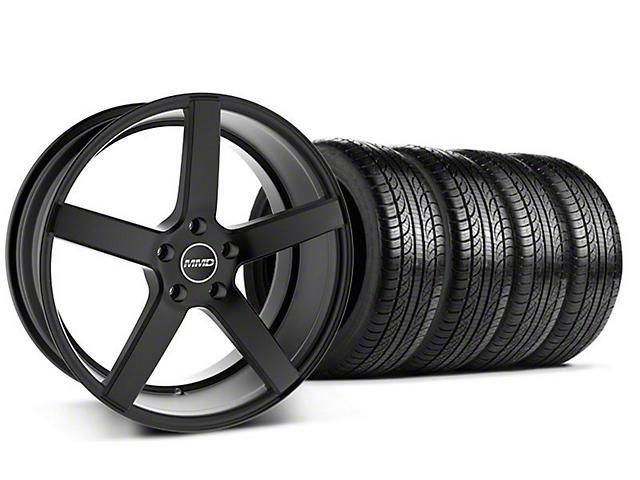 Staggered MMD 551C Black Wheel & Pirelli Tire Kit - 19x8.5/10 (05-14 All)