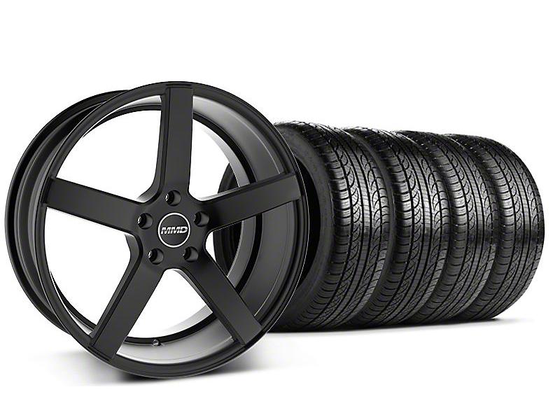 MMD Staggered 551C Black Wheel & Pirelli Tire Kit - 19x8.5/10 (05-14 All)