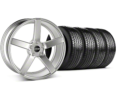 MMD Staggered 551C Silver Wheel & Pirelli Tire Kit - 19x8.5/10 (05-14 All)