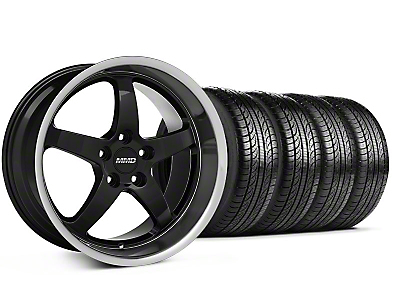 MMD Staggered Kage Black Wheel & Pirelli Tire Kit - 19x8.5/10 (05-14 GT,V6)