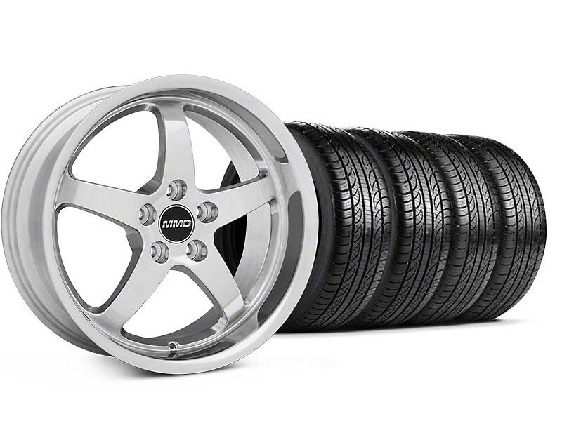 MMD Staggered Kage Polished Wheel & Pirelli Tire Kit - 19x8.5/10 (05-14 GT,V6)