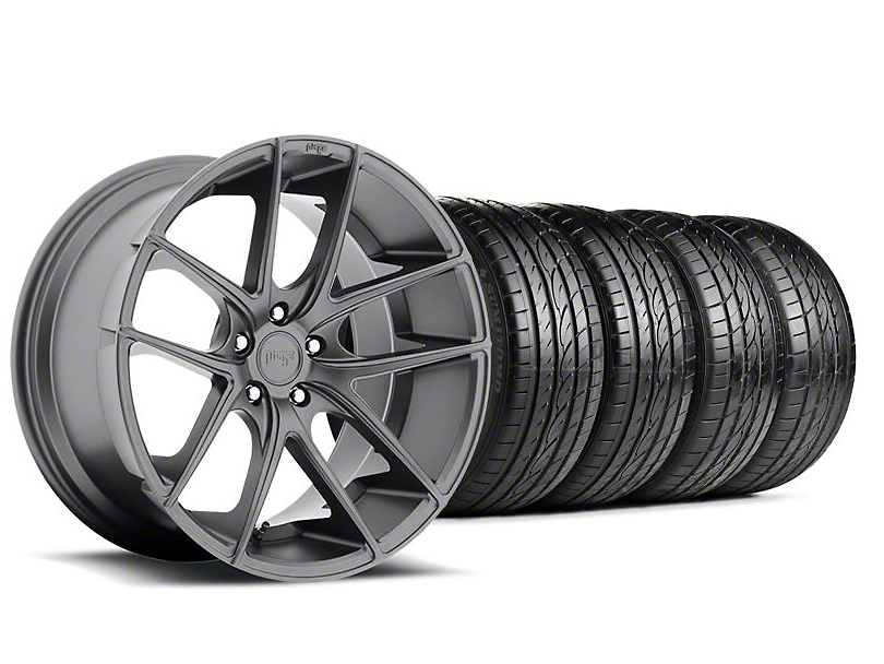 Niche Staggered Targa Anthracite Wheel & Sumitomo Tire Kit - 19x8.50/9.5 (05-14 All)