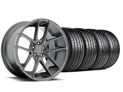 Niche Staggered Targa Anthracite Wheel & Sumitomo Tire Kit - 19x8.50/9.5 (05-14 All)