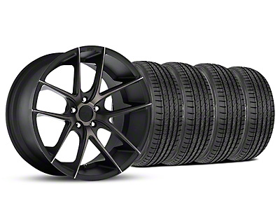 Niche Staggered Targa Black Wheel & Sumitomo Tire Kit - 19x8.5/9.5 (05-14 All)