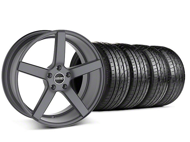 MMD Staggered 551C Charcoal Wheel & Sumitomo Tire Kit - 19x8.5/10 (05-14 All)