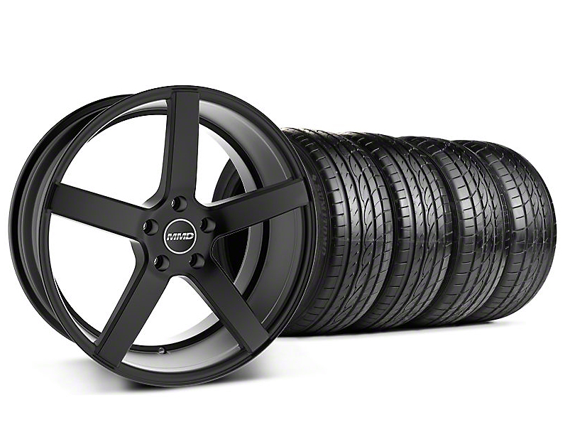 MMD Staggered 551C Black Wheel & Sumitomo Tire Kit - 19x8.5/10 (05-14 All)