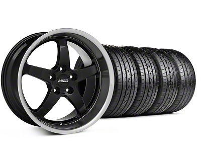 MMD Staggered Kage Black Wheel & Sumitomo Tire Kit - 19x8.5/10 (05-14 GT,V6)