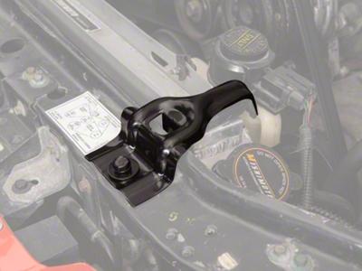Upper Radiator Support Brackets - Black (87-93 5.0L)