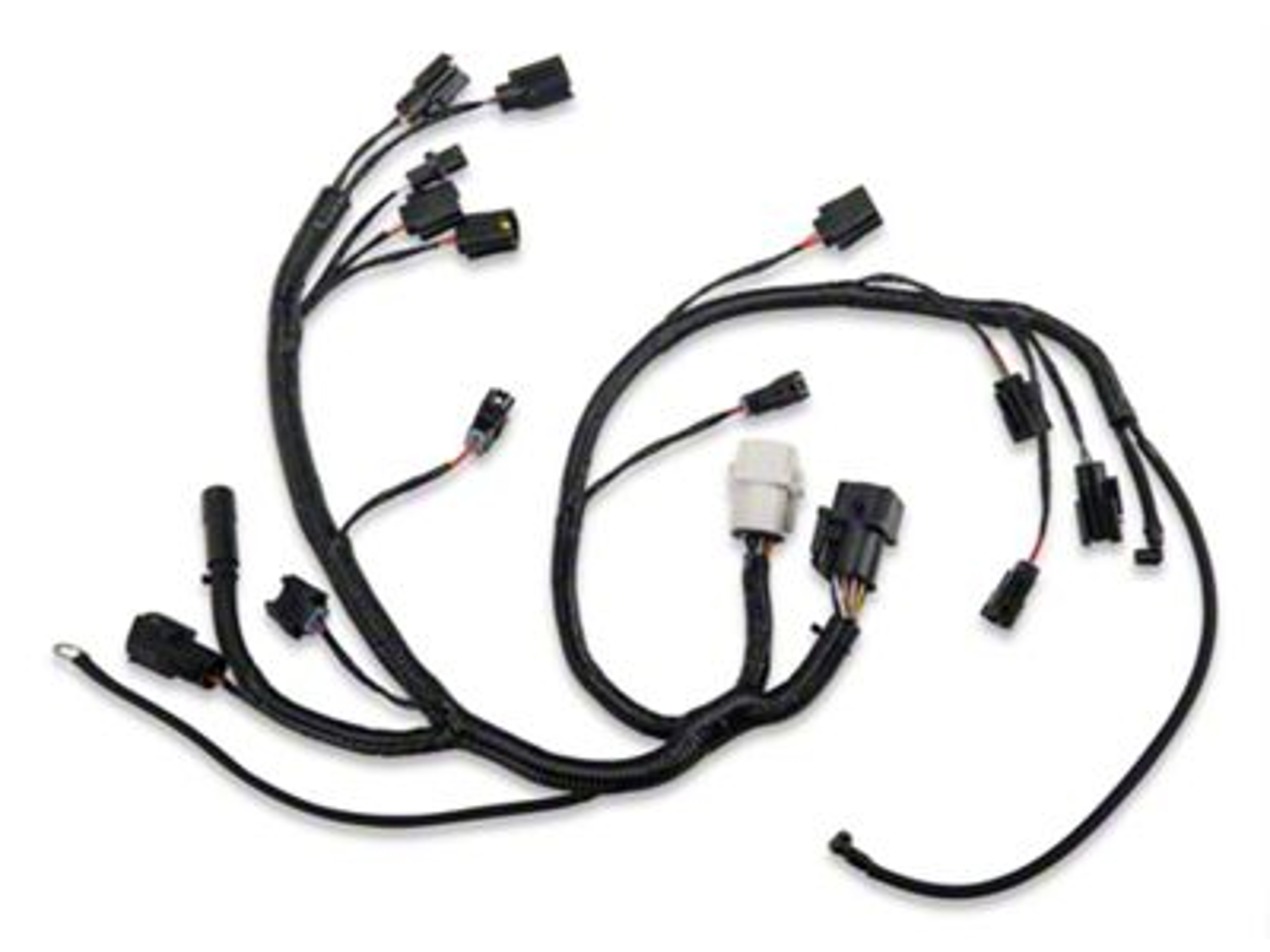 fuel injector wiring wiring diagram viddyup 7 Pole Trailer Wiring opr mustang fuel injector wiring harness 100628 87 93 5 for fuel injector wiring