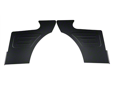 Scott Rod Rear Seat Delete Quarter Panels - Coupe - Black (87-93 All)