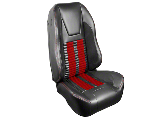 TMI Premium Sport R500 Upholstery & Foam Kit - Gray Vinyl & Red Stripe/Stitch (99-04 All)