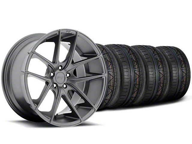 Staggered Niche Targa Anthracite Wheel & NITTO INVO Tire Kit - 19x8.50/9.5 (05-14 All)