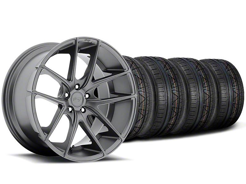 Niche Staggered Targa Anthracite Wheel & NITTO INVO Tire Kit - 19x8.50/9.5 (05-14 All)