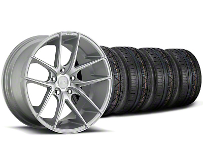 Niche Staggered Targa Matte Silver Wheel & NITTO INVO Tire Kit - 19x8.5/9.5 (05-14 All)