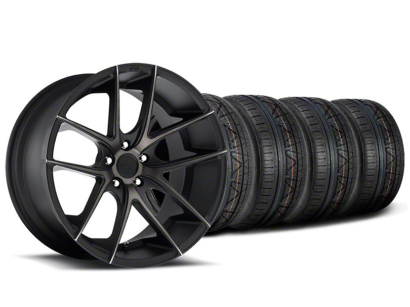 Staggered Niche Targa Black Wheel & NITTO INVO Tire Kit - 19x8.5/9.5 (05-14 All)